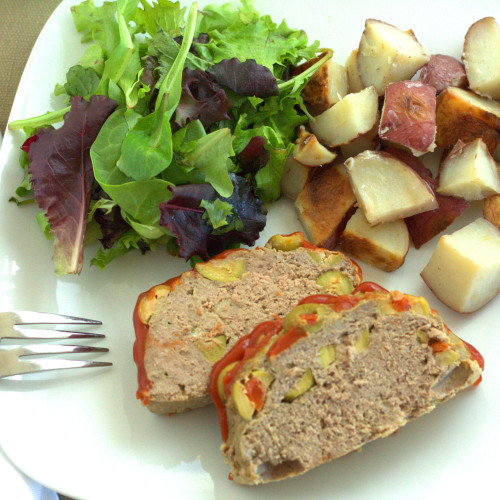 Green Olive Meatloaf - experimental epicurean .8
