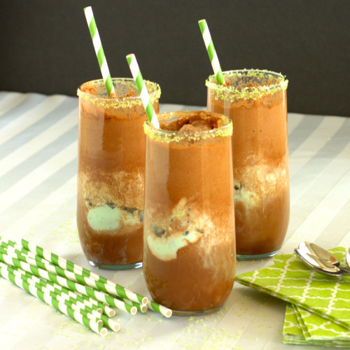 Grasshopper Soda Float