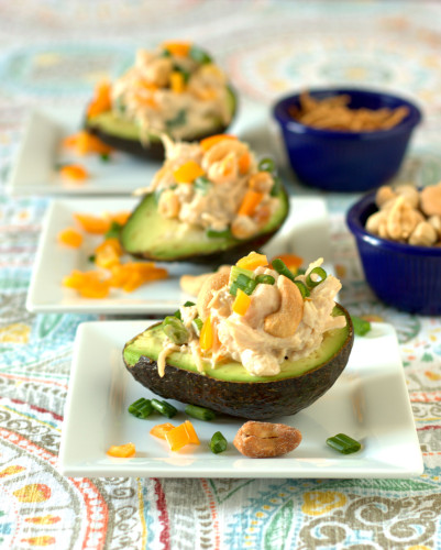 Cashem Chicken Salad Stuffed Avocados