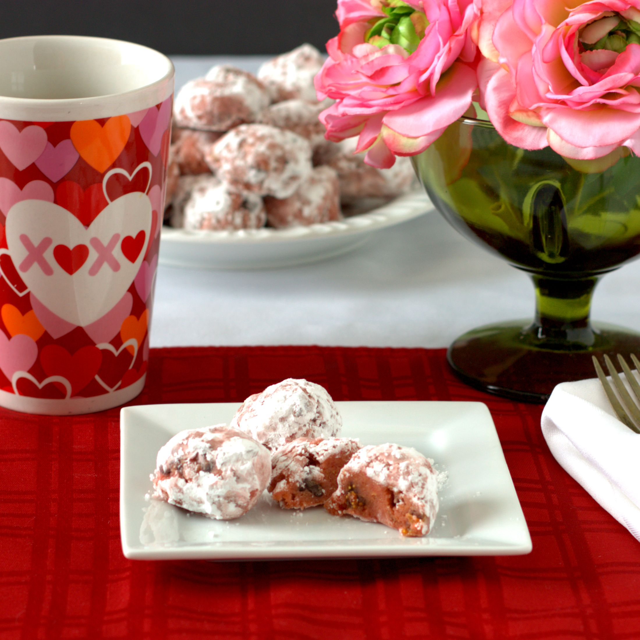 Valentine Brandy Ball Cookies