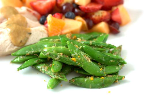 Parmesan-Jerk Sugar Snap Peas