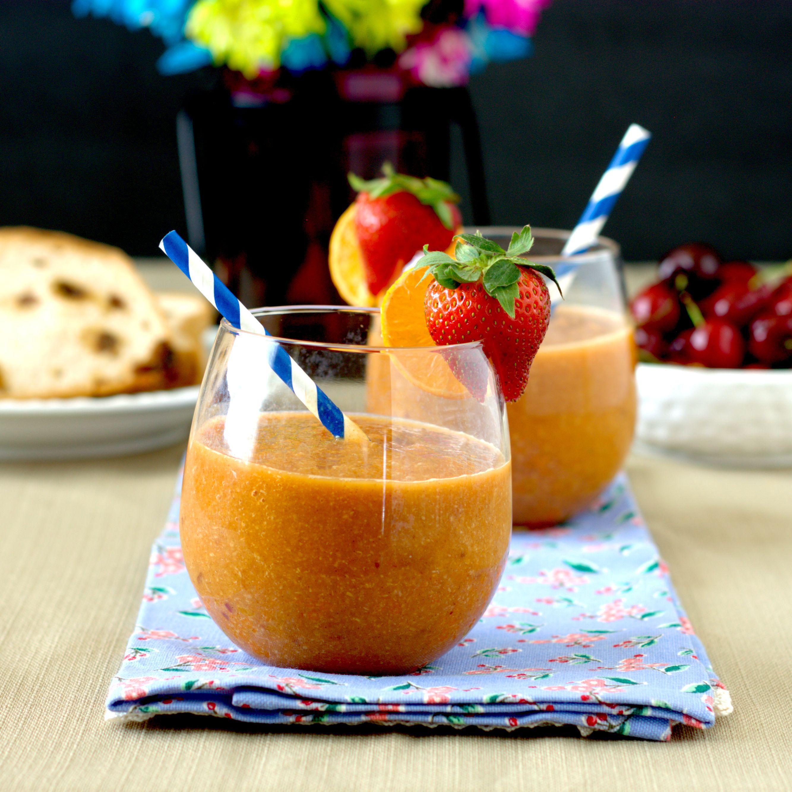 Papaya-Peach Smoothie