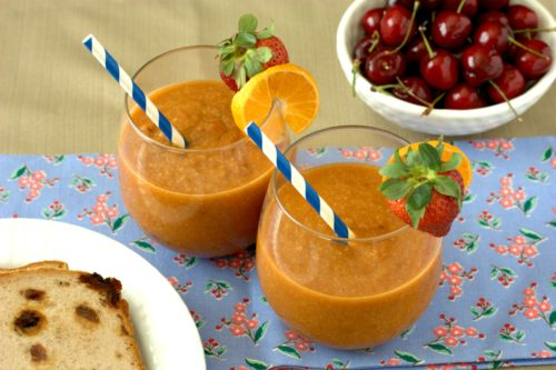 Papaya-Peach Smoothie - Experimental Epicurean