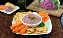 purple cauliflower dip