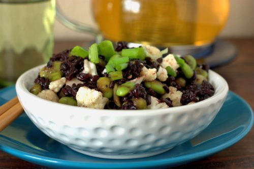 Black Rice & Edamame Salad