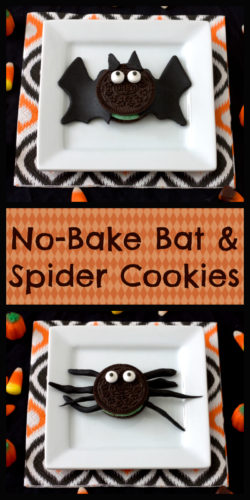 bat and spider cookies