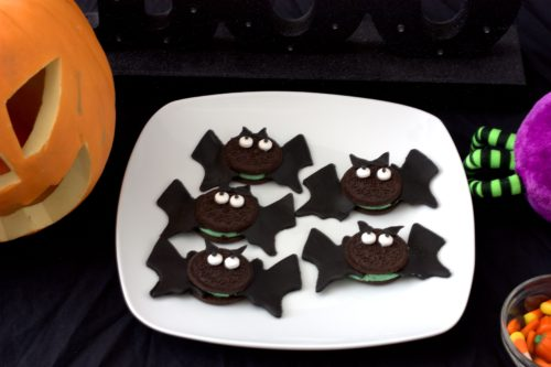no bake bat and spider cookies