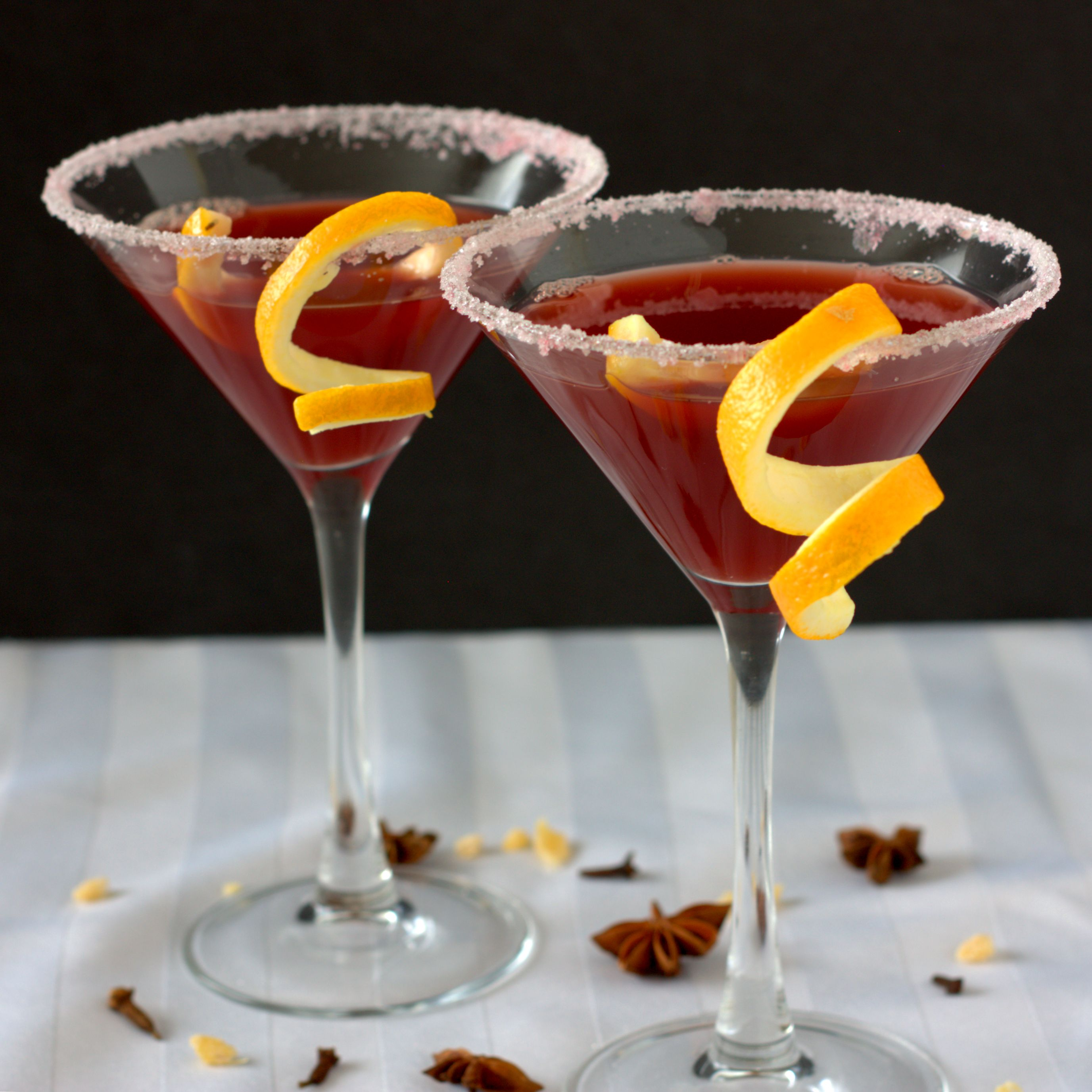 Mulled Pomegranate Martini
