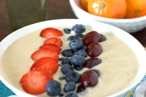 Lowfat Peanut Butter Smoothie Bowl