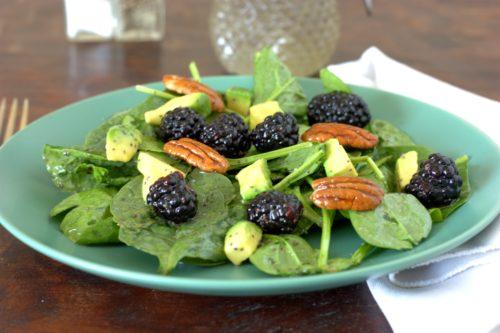 Spinach & Blackberry Salad