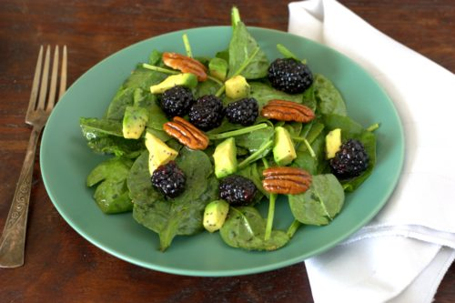Spinach and Blackberry Salad
