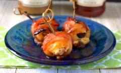 Saucy Bacon Wrapped Stuffed Apricots