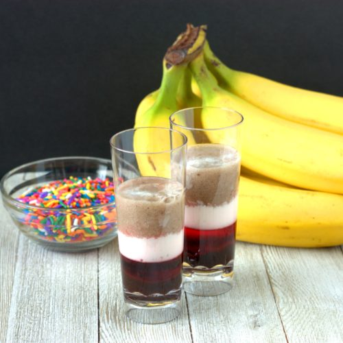 Banana Split Layer Drink