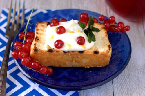 Lemon and Currant Angel Food Cake