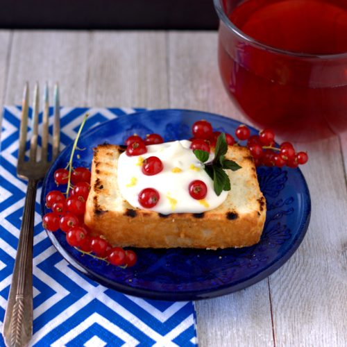 Lemon & Currant Grilled Angel Food Cake - Experimental ...